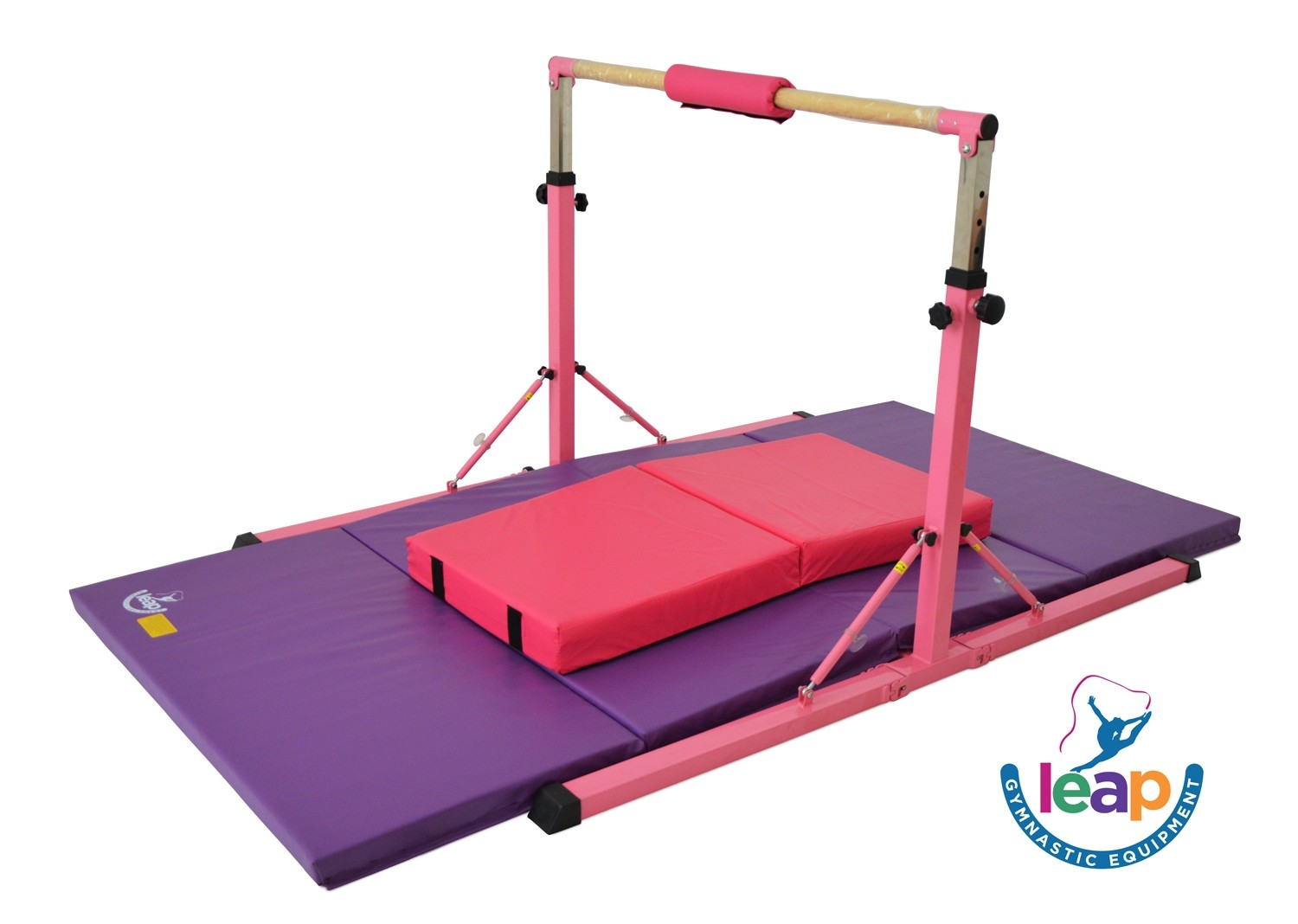 Leap Gymnastics High Bar Kit for Kids with Matts included